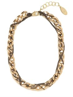 Work a little punk love into your life with this striking statement necklace. It features chunky gold links embellished with a cool, crazy twist.  This is part of the Designer Series: Adia Kibur