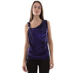 Top drapé violet - MIM #topdrapé