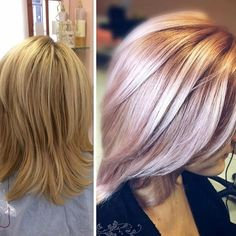 Metallics Hair Color 41135 Rosegold Fan Share A Perfect Bination Of and In the Metallic Hair Color, Hair Color Purple, Fall Hair Colors, Hair Colours, Pastel Hair, Pink Hair, Corte Bob, Golden Blonde Hair, Pretty Hairstyles