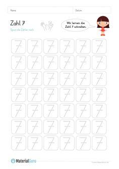 Ein kostenloses Mathe-Arbeitsblatt zum Schreiben lernen der Zahl 0 ...