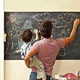 Duofire (Black,43*200 CM) Peel and Stick Blackboard Sticker Memo Removable Vinyl Chalkboard Wall Sticker: Amazon.co.uk: Kitchen & Home