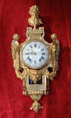 Beautiful #gilt #bronze cartel #clock signed Imbert the Elder. #18thcentury. For sale on #Proantic by Gérardin et Cie.