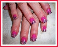 French manicure designs pink