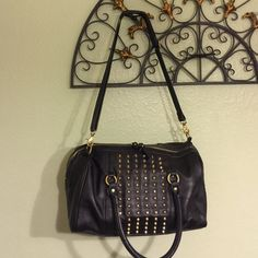 H&M Studded Purse H&M black studded purse. Some wear as shown in photos H&M Bags