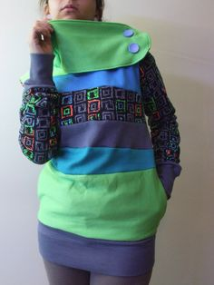 TOXIC  Hoodie Sweatshirt Sweater  Recycled Upcycled by MungoCrafts