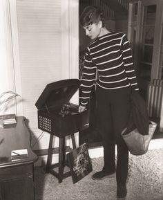 Audrey Hepburn photographed at her apartment in Manhattan, circa June 1954.