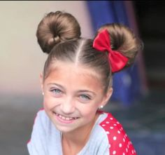 From Minnie Mouse Buns to Katniss braids: Mother-of-six shows how to create unique hairstyles using her daughters as models Mail Online Cute Girls Hairstyles, Unique Hairstyles, Pretty Hairstyles, School Hairstyles, Disney Hairstyles, Girls Hairdos, Girl Haircuts, Updo Hairstyle, Prom Hairstyles