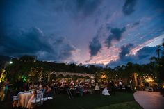 Wedding reception in Antigua Hacienda de Santiago Sunset