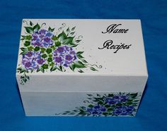 Decorative Recipe Box Custom Painted Recipe Box Decorative Woodessenceofthesouth