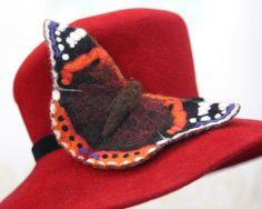 Red Admiral-Butterfly-Nadel filzen Kit