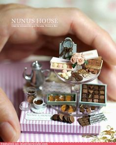 CUTE ALERT: Japanese Miniaturist Makes Adorable Art. Wish I had the talent and patience to make these.