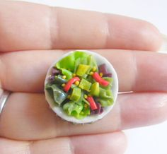 Hey, I found this really awesome Etsy listing at https://www.etsy.com/listing/124236867/avocado-salad-miniature-food-ring