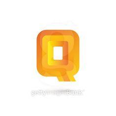Letter Q icon design template elements