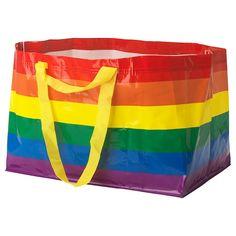 STORSTOMMA Bag - multicolor - IKEA Rainbow Bag, Rainbow Colors, Thrift Haul, Ikea Family, Chiffon, Reusable Shopping Bags, Grocery Bags, Rainbow Pride, Gay Pride