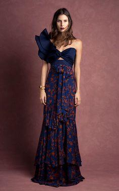 Get inspired and discover Johanna Ortiz trunkshow! Shop the latest Johanna Ortiz collection at Moda Operandi. Trendy Dresses, Elegant Dresses, Blue Dresses, Vintage Dresses, Beautiful Dresses, Casual Dresses, Fashion Dresses, Summer Dresses, Gorgeous Dress