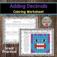 Systems of Equations Coloring Worksheet Adding And Subtracting Integers, Adding Decimals, Multiplying Decimals, 9th Grade Math, Math Coloring Worksheets, Systems Of Equations, Absolute Value, Math Resources, Teacher Newsletter