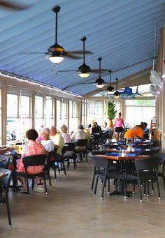 MustDo.com | Casual waterfront dining at Marker 4 restaurant Venice, Florida.