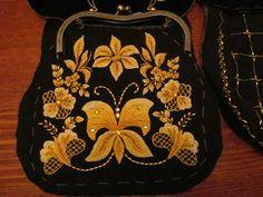 Hand-embroidered burse.