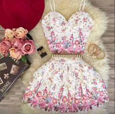 i need to find this outfit! Girls Fashion Clothes, Teen Fashion Outfits, Girly Outfits, Cute Casual Outfits, Skirt Outfits, Cute Fashion, Pretty Outfits, Stylish Outfits, Cute Prom Dresses