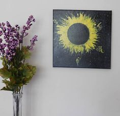 Glow-in-the-dark painting inspired by the 2017 Eclipse. Available on Etsy at Hi-Five MI Designs.