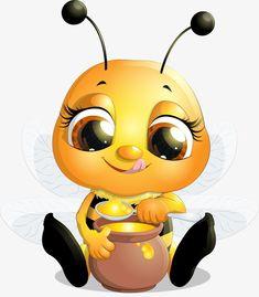 Sit and eat honey bee PNG and Clipart Cartoon Bee, Cute Cartoon, Bee Pictures, Cute Bee, Pics Art, Bee Art, Bee Theme, Bee Happy, Laura Lee