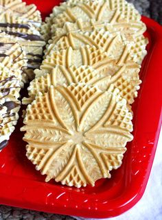 Classic Italian Pizzelles - an old family favorite, light and crispy and delicious!!