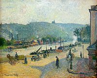 Camille Pissarro The Quays At Rouen Oil Painting Reproductions for sale Fondation Louis Vuitton, Georges Seurat, Pierre Auguste Renoir, Monet, Camille Pissarro Paintings, Impressionist Paintings, Oil Paintings, Oil Painting Reproductions, Traditional Paintings