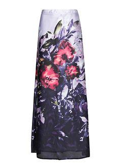 Falda larga estampada by MANGO