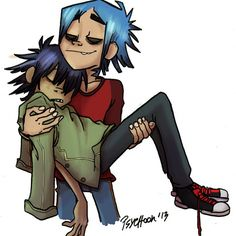 Noodle & 2-D by Psychoon She is like world famous lol