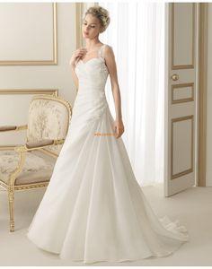 5b911eb713a6 Kapell Tog Sateng Glidelås Vintage Bryllupskjoler Wedding Dresses 2014