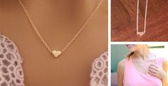Dainty Tiny Heart Necklaces-2 colors!