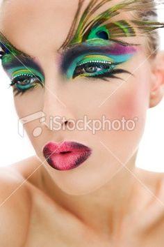 makeup peacock-costume
