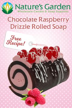 Free Chocolate Raspberry Drizzle Rolled Soap Recipe by Natures Garden