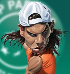 Rafa Nadal FOLLOW THIS BOARD FOR GREAT CARICATURES OR ANY OF OUR OTHER CARICATURE BOARDS. WE HAVE A FEW SEPERATED BY THINGS LIKE ACTORS, MUSICIANS, POLITICS. SPORTS AND MORE...CHECK 'EM OUT!! Anthony Contorno Sr