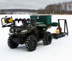 ATV Auger Mount ice