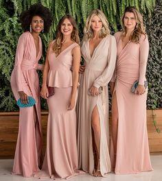 Seleção de vestidos de festa rosa para formandas, madrinhas e convidadas Couture Dresses, Bridal Dresses, Bridesmaid Dresses, Prom Dresses, Formal Dresses, Abaya Fashion, Fashion Dresses, Dress Outfits, Dress Up