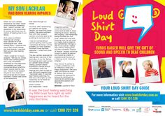 Loud Shirt Day Booklet Outside  www.loudshirtday.com.au
