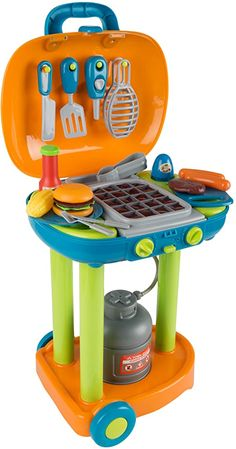 Little Girl Toys, Toys For Girls, Kids Toys, Grill Stand, Pretend Kitchen, Bbq Set, Beach Cakes, Cleaning Toys, Barbecue Recipes