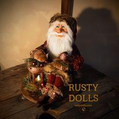Scandinavian Santa - Santa Claus - Art Doll - Doll - Father Christmas - Christmas Art Doll - Christmas Decor - Winter Decor - Polymer Clay by RustyDolls on Etsy Father Christmas, Christmas Paper, Handmade Christmas, Ooak Dolls, Art Dolls, Santa Doll, Shades Of Burgundy, Metal Lanterns, Hand Shapes