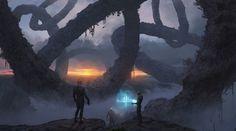 Chain Planet, Rostyslav Zagornov on ArtStation at https://www.artstation.com/artwork/2Wkyy