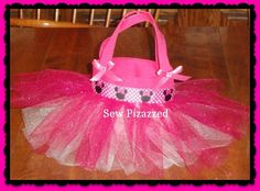 Disney Birthday Party Favor Tutu Tote Bags Mickey by SewPizazzed, $9.00
