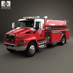 Kenworth T370 Fire Truck 2009 3d model from humster3d.com. Price: $75