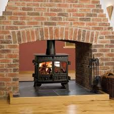 Image result for brick fireplaces for double sided wood burners