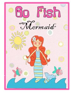Little Mermaids love to play games and they will be thrilled to play this classic go fish mermaid game.  This packet comes with instructions and 60 cards.  Download, print and lets play games.