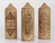 Thibaut Malet x Zics - Wooden Spray Cans