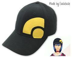 $20 Pokémon Go girl trainer avatar black and yellow hat #Zulave https://www.etsy.com/listing/456215232/pokemon-go-girl-trainer-avatar-inspired