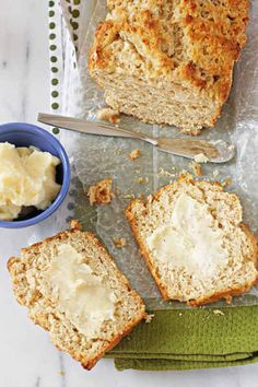 Buttery Honey Beer Bread with Honey Butter | 16 Honey Recipes You Didn't Know You Needed This Summer