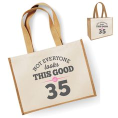 Not Everyone Looks This Good At 35 35th Birthday Bag Gift Womens Ladies Shopping Present Tote Idea