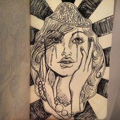 #art #design #illustration #copic #rabiscos #brasilidade #estamparia #pattern #cores #drawing #fashiondrawing #woman #draw #queen  instagram:@rubianareolon