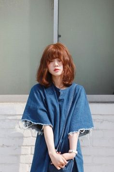 New hair cuts layers shoulder length Ideas Korean Medium Hair, Medium Hair Styles, Short Hair Styles, 2015 Hairstyles, Trendy Hairstyles, Korean Bob, Hair Color Blue, Korean Hair Color Brown, Girl Short Hair